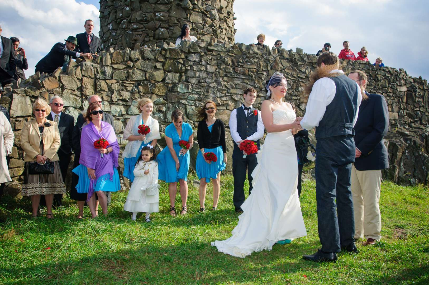 couple married at castle