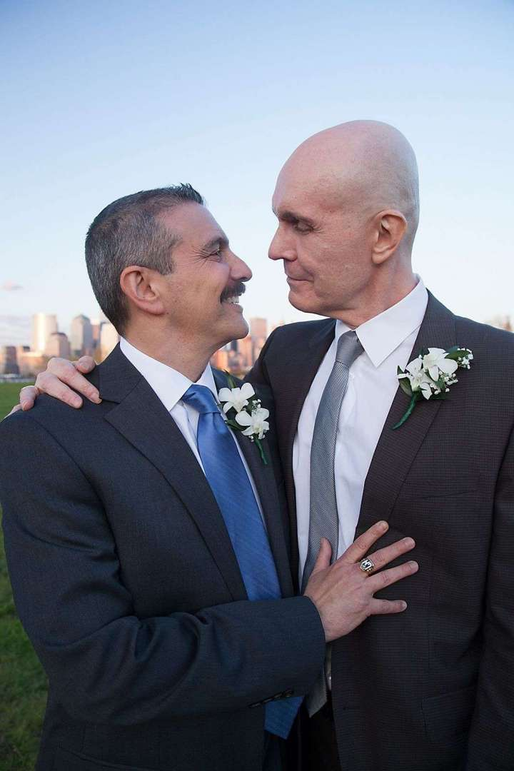 same sex wedding couple