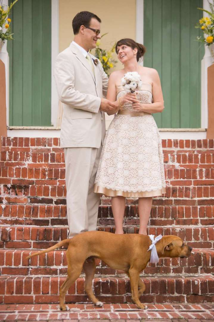 newlyweds and their dog.jpg