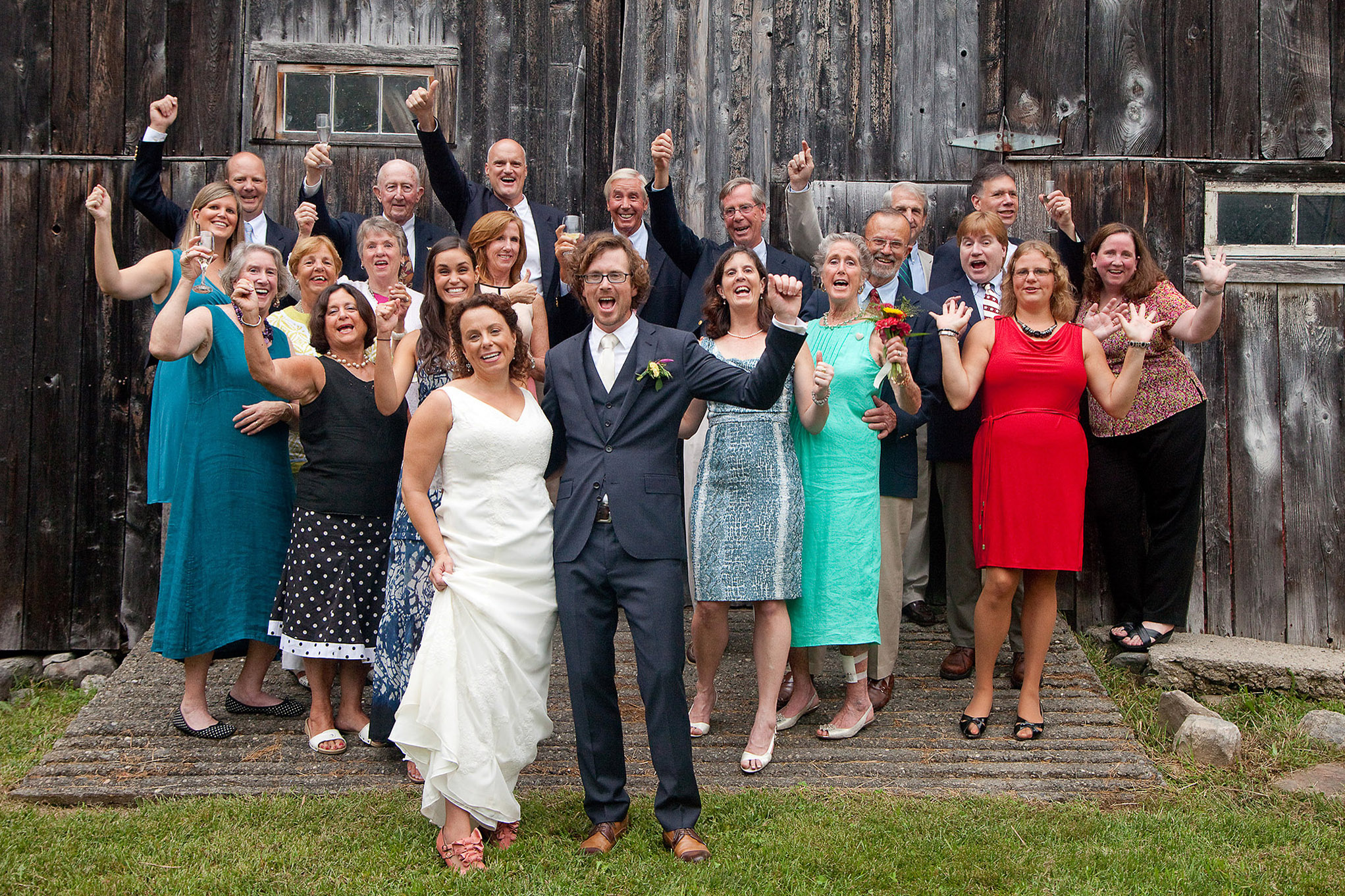 wedding party celebrate at a farm.jpg