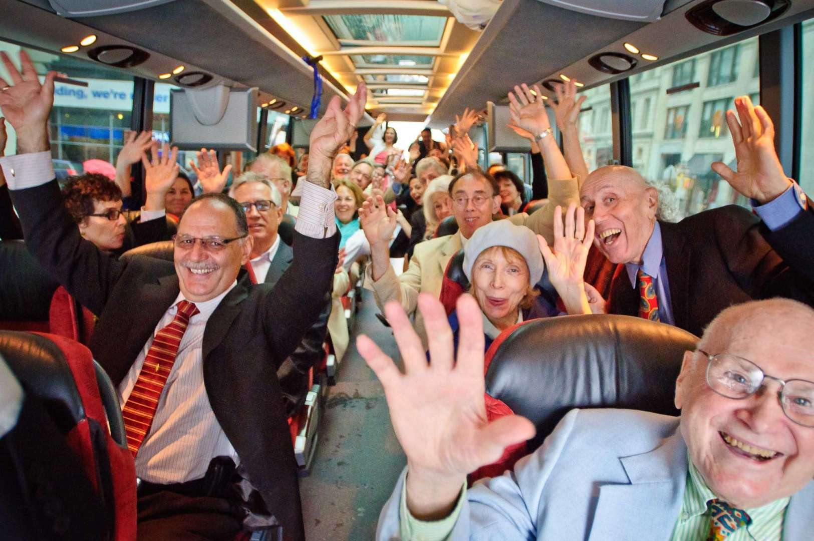 wedding party on a bus, best of
