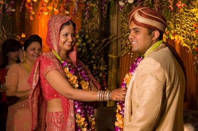 Indian couple get married