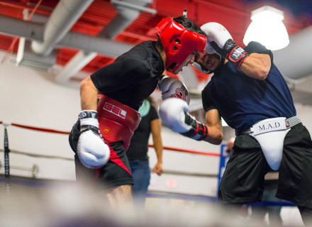 Boxers at a community boxing program in Jersey City
