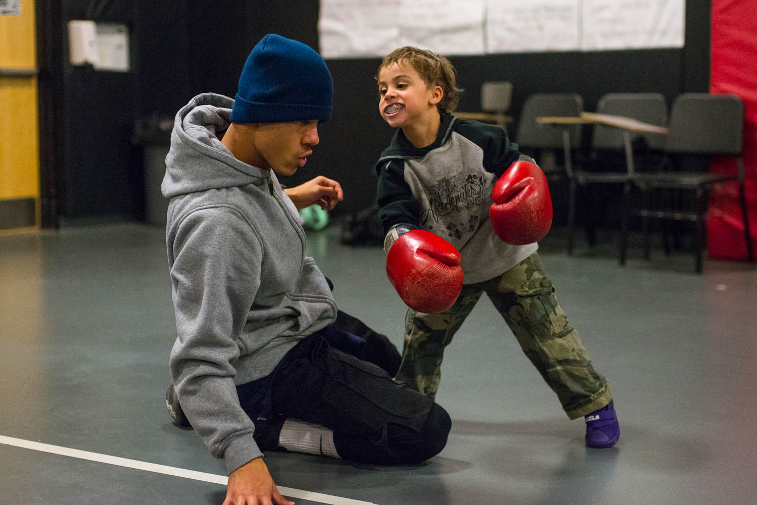 The boxing program serves as a community hub for youth in Jersey City.